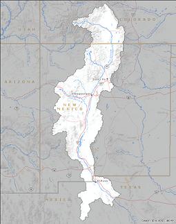 Rio Grande Basin FAS - Rio grande river world map